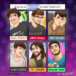 Six Trans Men Fan art