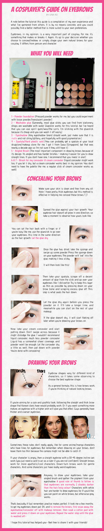 A Cosplayer's Guide to Eyebrows by sinarei