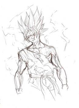 goku sketch 2
