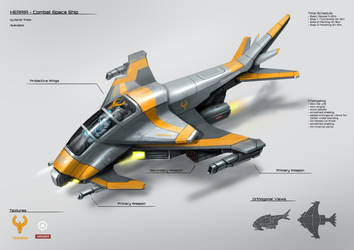 Combat space ship by DProject-DMan
