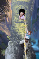 Rapunzel and Flynn at the tower by shakes24601