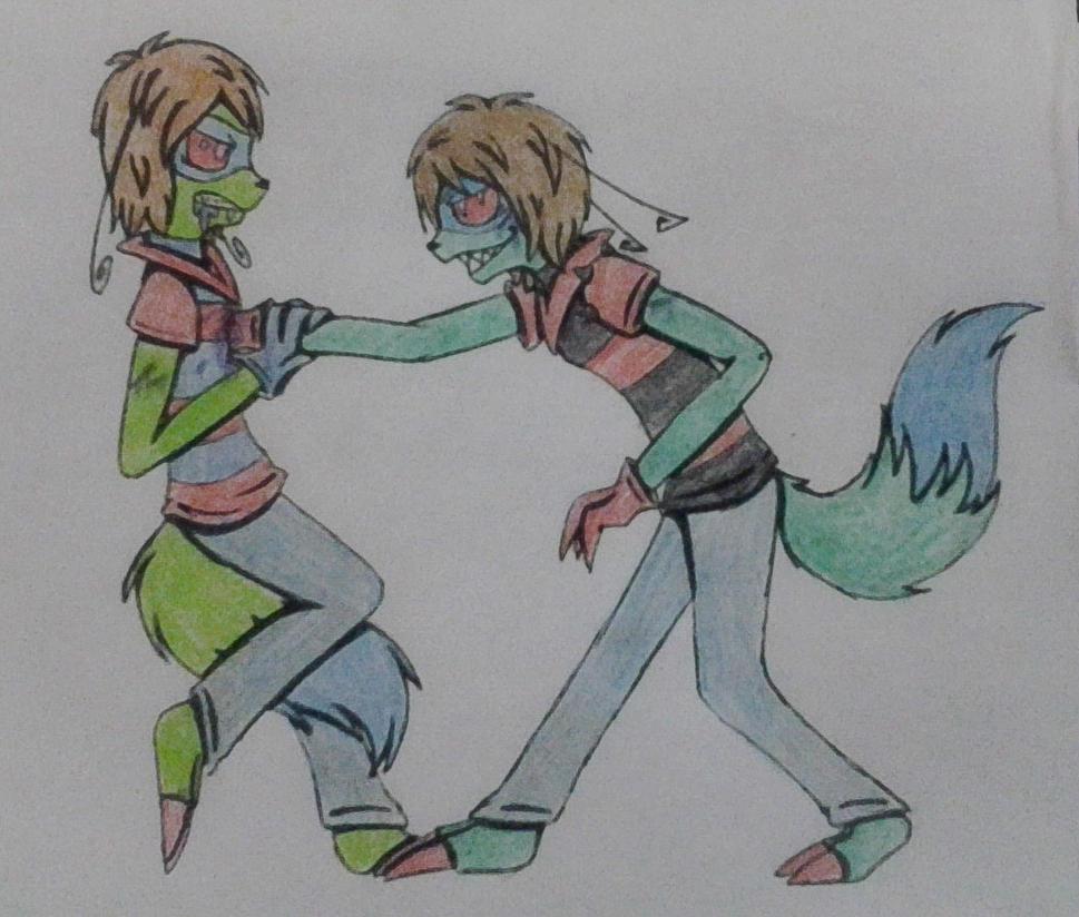 Lumiran VS Stupi by Deidy-chan