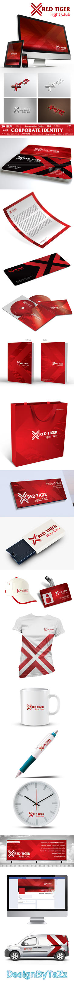 Red Tiger Corporate Identity by korkutaykut