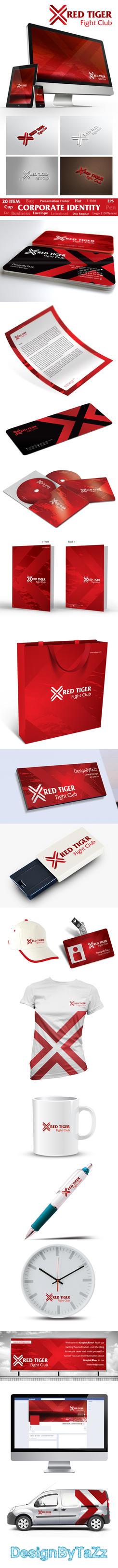 Red Tiger Corporate Identity by korkutaykut