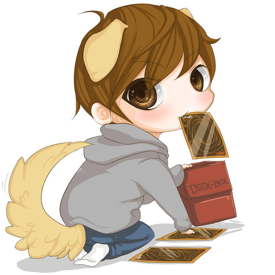 Anime Chibi Puppy Yugioh pup chibi by sunofureku