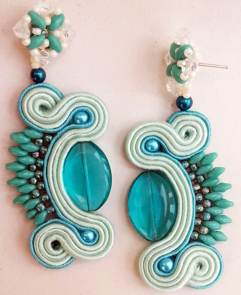 Soutache errings by cleo72