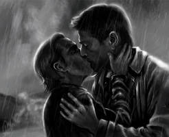 The Kiss on a Rainy Thursday by nicholya-arden