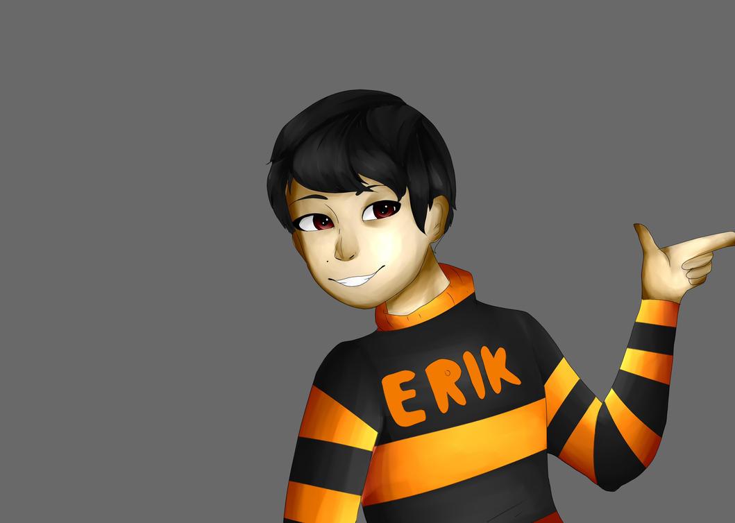 Erik X orange and black  by KiwiLoyalty007