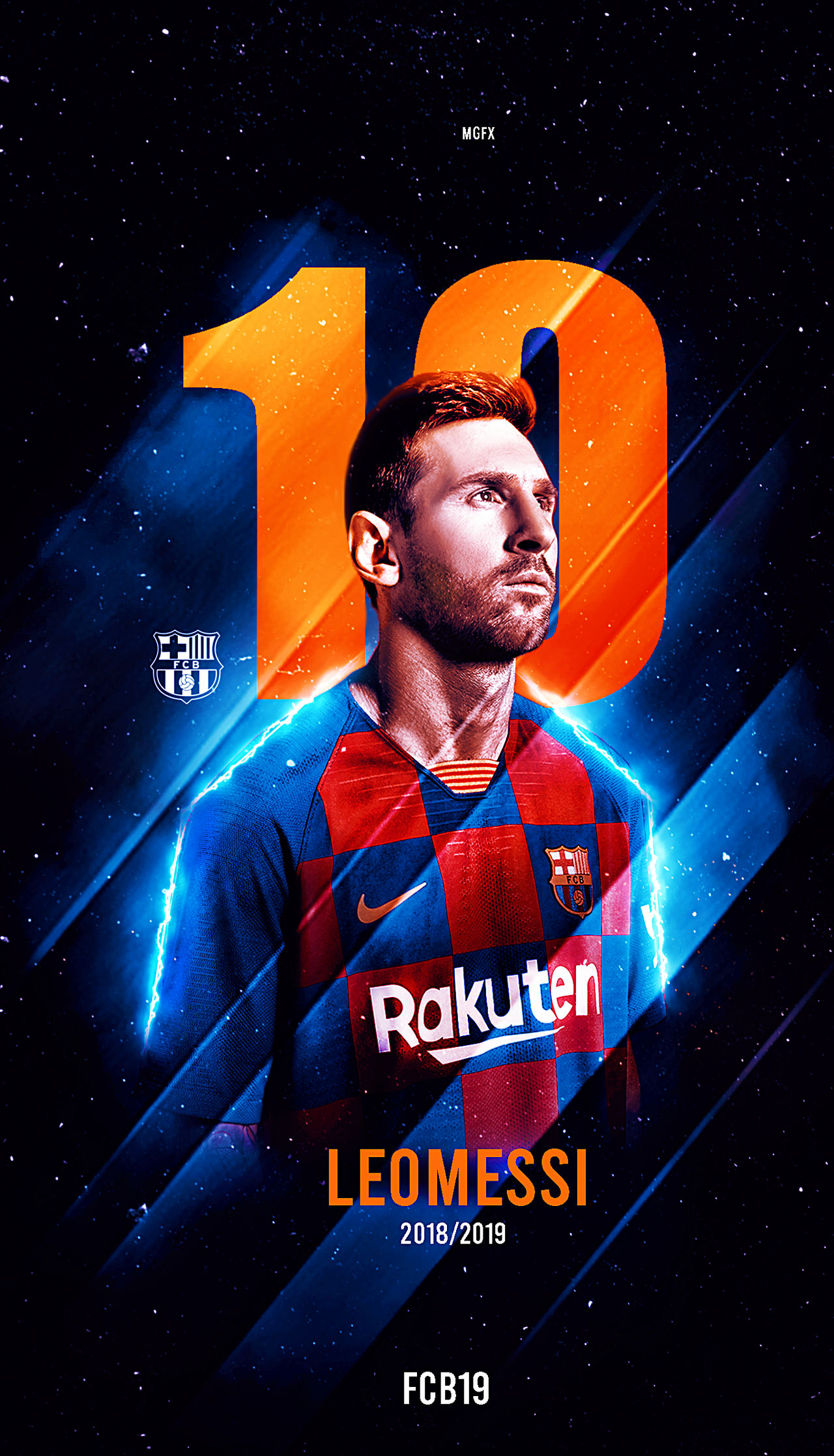 LIONEL MESSI WALLPAPER LOCKSCREEN 2019 By MohamedGfx10 On
