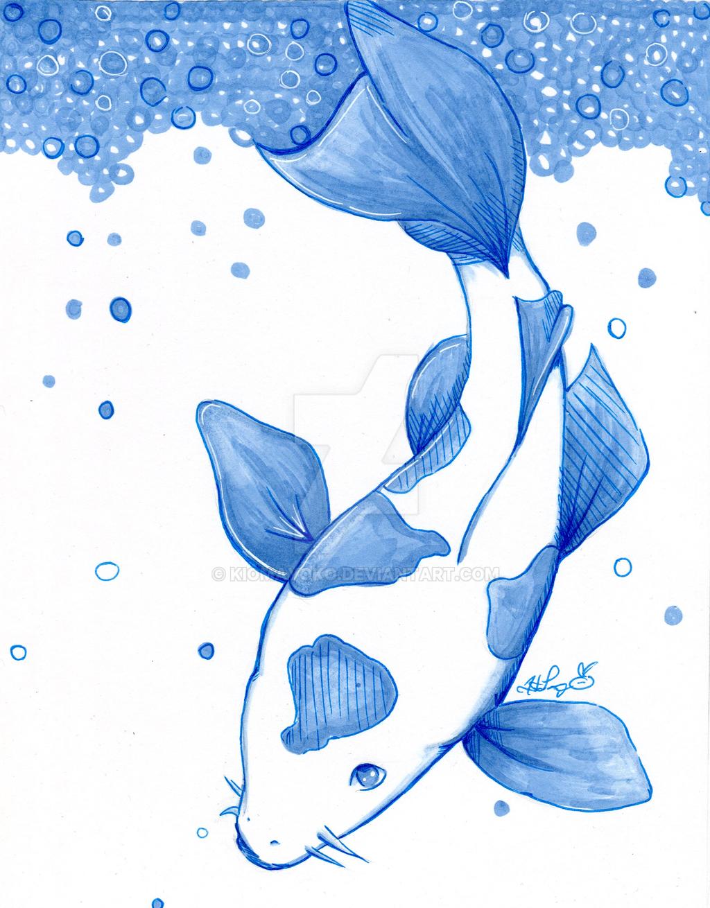 One Marker Challenge :: Koi by kiomayoko
