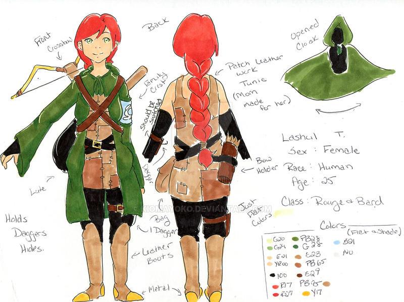 Lashul Character Sheet by kiomayoko