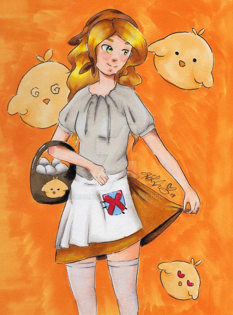 Egg Maid by kiomayoko