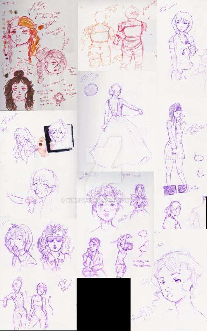 Sketch Book Dump by kiomayoko