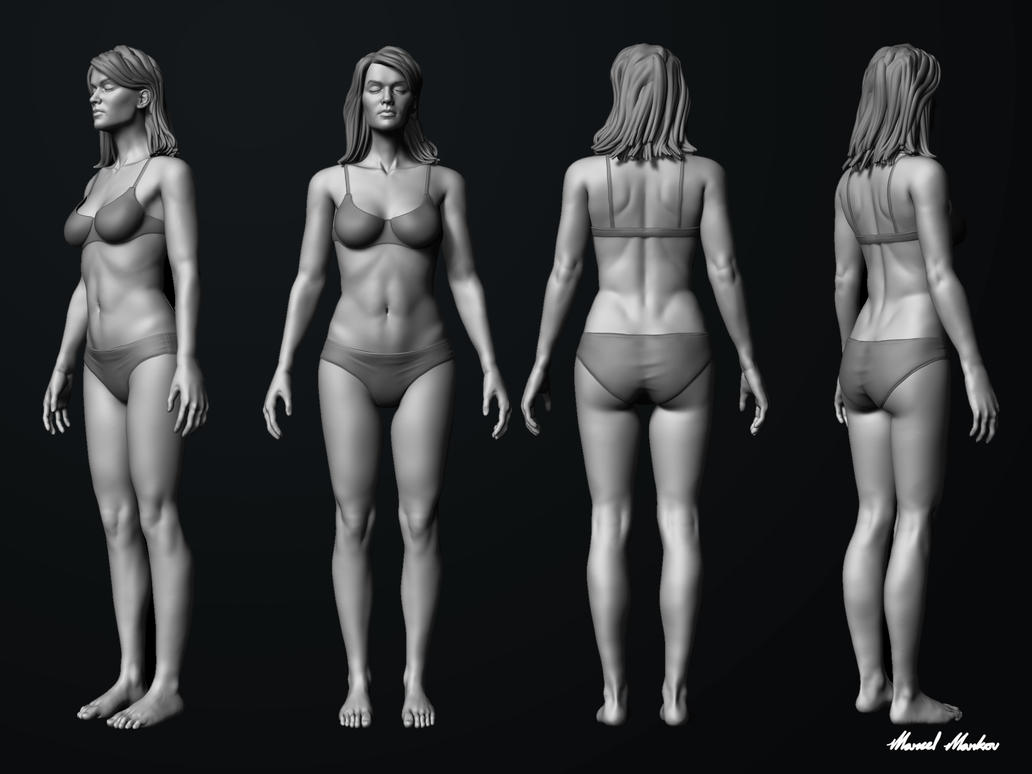 Female Anatomy Practise - Update by MarcelMarkov on DeviantArt