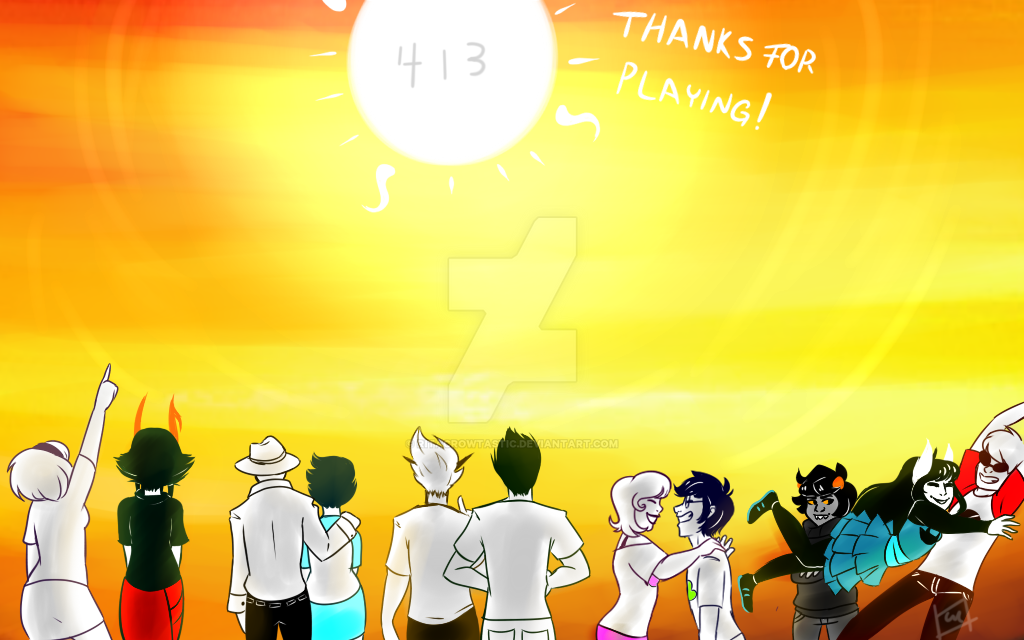 THANKS FOR PLAYING Homestuck Ending Fanart By RitaCROWTASTIC