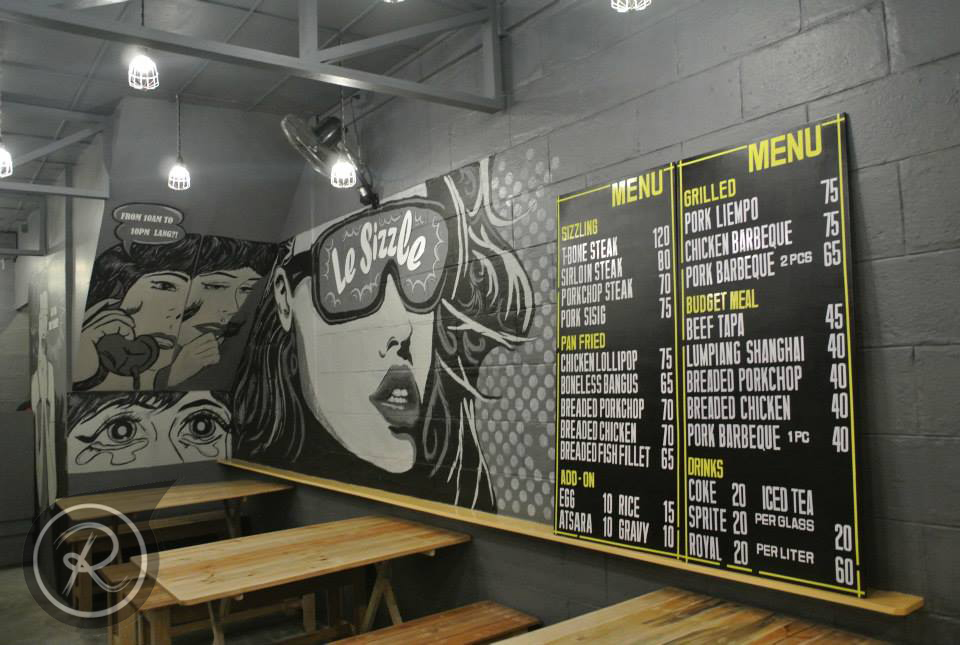 Wall Decor Restaurant : Le sizzle restaurant wall art by remoel tolentino on