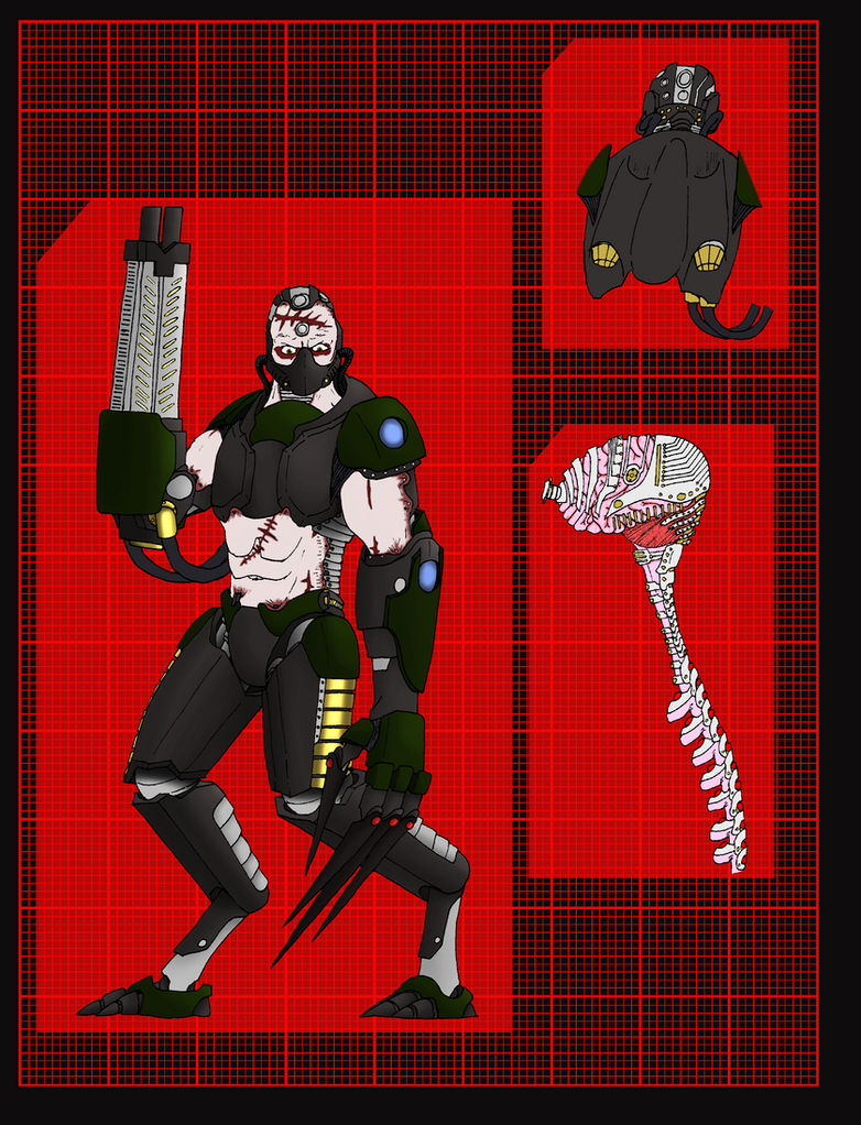 Immortal Empire Cyborg Soldier Level 2 by 0verlordofyou