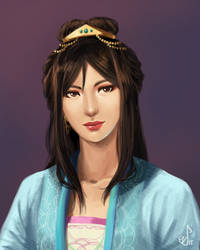 Painting Practice: Liangchen by ShootingStar03