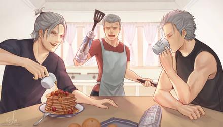 DMC5: Breakfast at Nero's by ShootingStar03