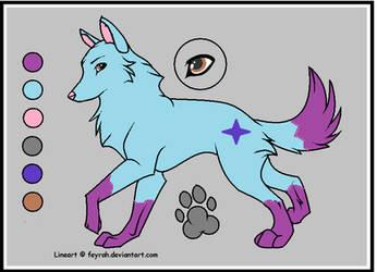 Wolf adoptable by Dragonx347