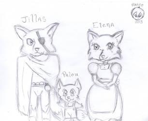 A fox family by Dragonx347