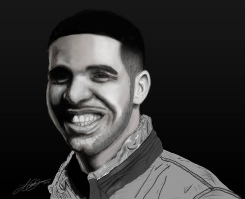 Drake Digital Painting By Joe Harper Artwork