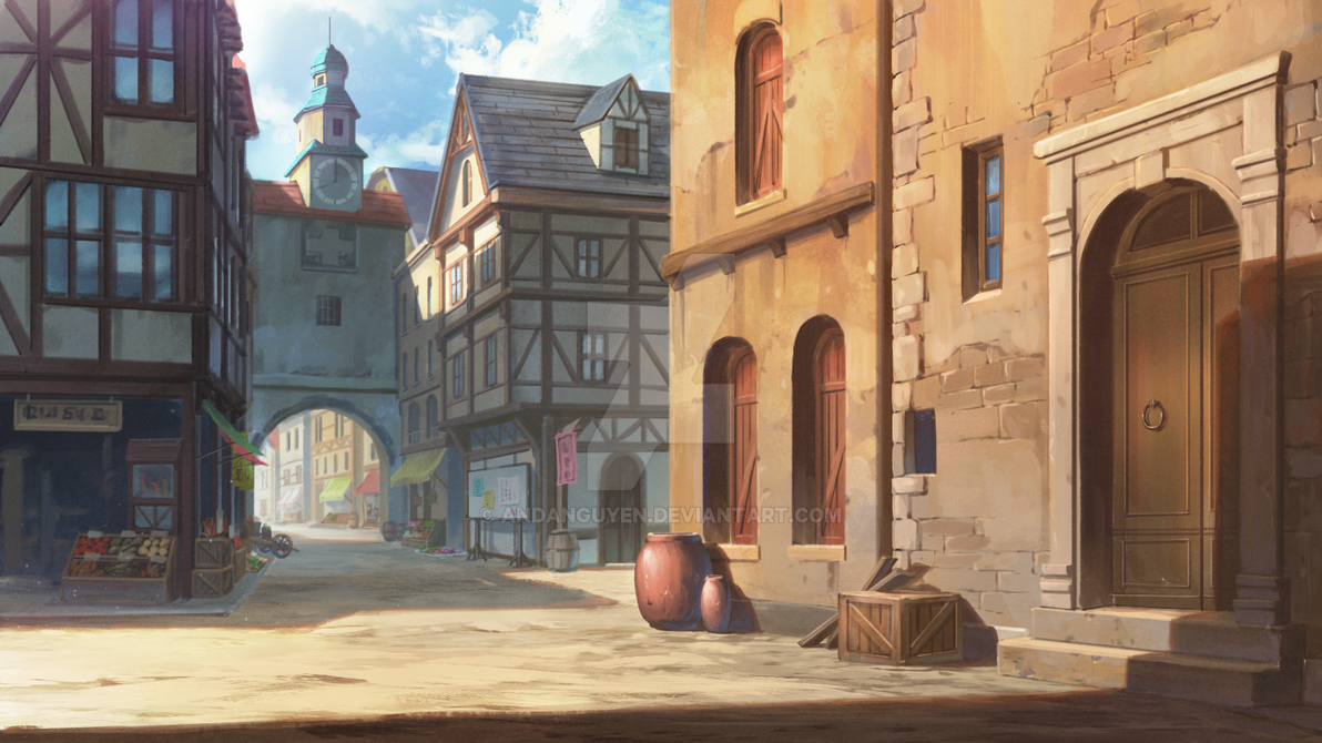 Medieval Town By Andanguyen On Deviantart