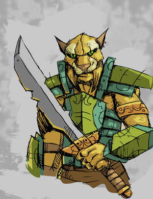 Khajiit Warrior by Canalus