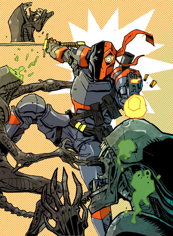 Aliens vs. Deathstroke! by Canalus