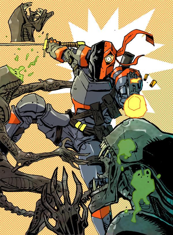 Aliens vs. Deathstroke! by Canalus
