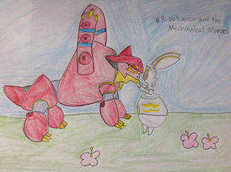 Number #8 Volcanion and the mechanical marvel by ShannonTheArt