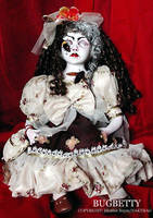 NURSERY CRYMES Bugbetty - Gothic Horror Doll by NAKT-HAG