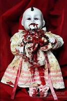 NURSERY CRYMES Hungry Harriet -Gothic Horror Doll by NAKT-HAG