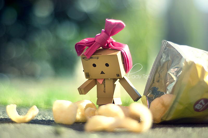 Danbo Loves Quavers by Lady-Tori
