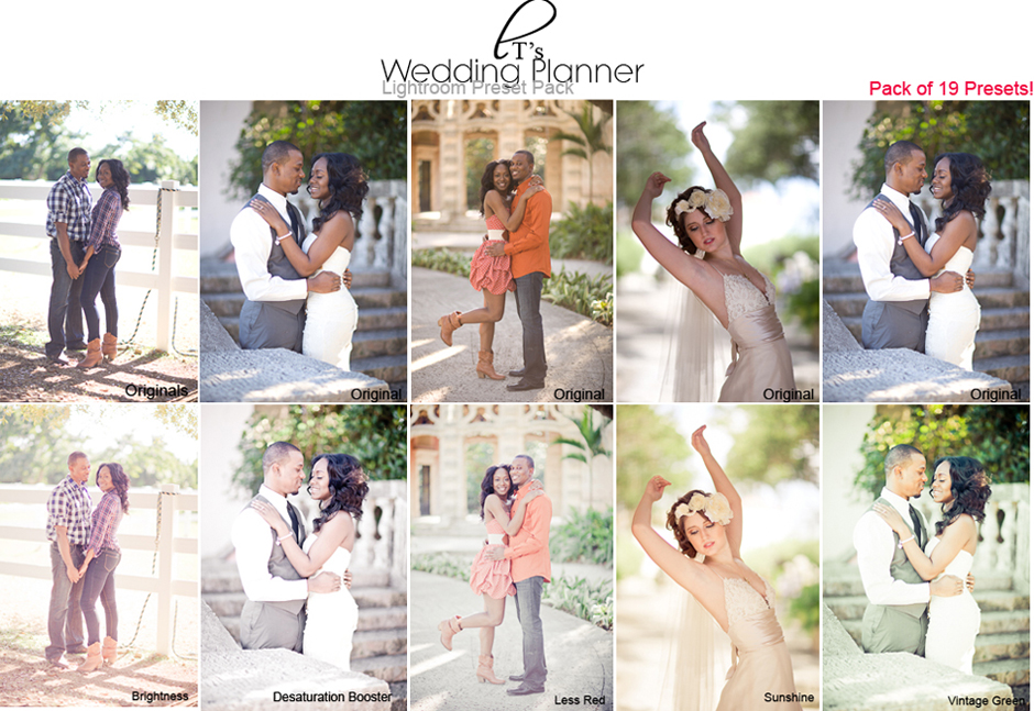 wedding planner lightroom preset pack by lady tori - Preset Lightroom Mariage