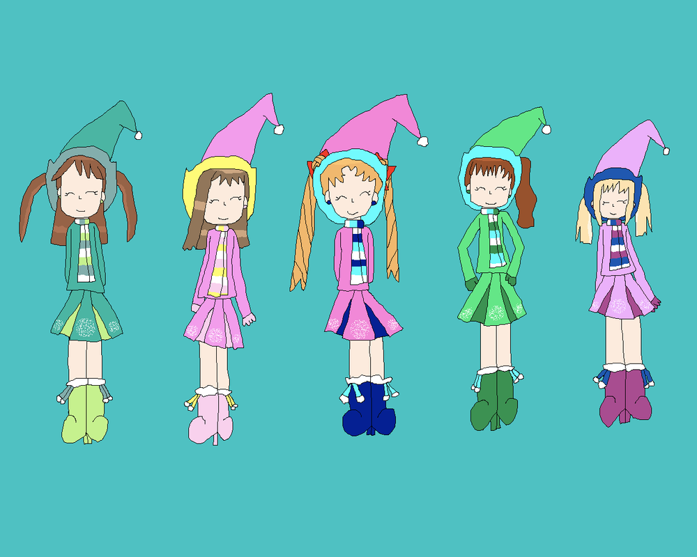 Winter ojamajos spin team by star5zone on deviantart for Zona 5 mobilia no club download