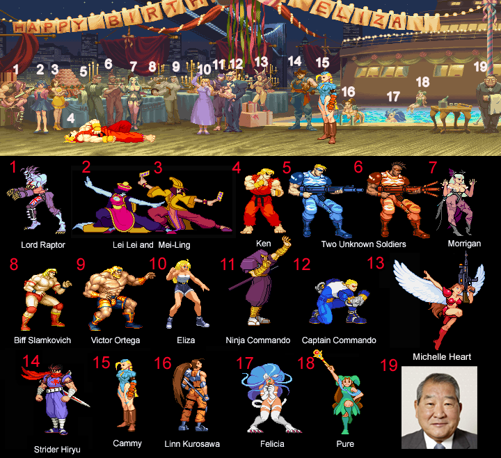 Ken's secret stage (Street Fighter Alpha 2) by simpleguyfa