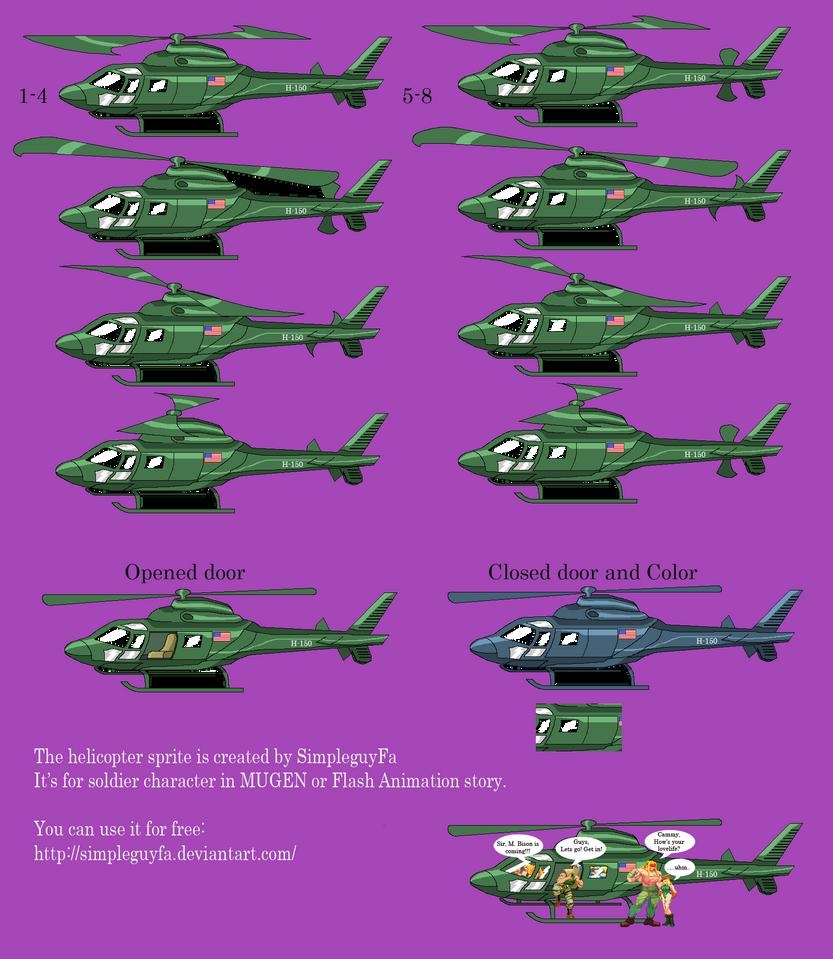 Helicopter Sprite by simpleguyfa