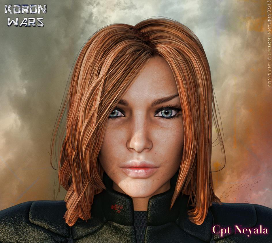 Koron Wars: Character Profile - Cpt Neyala Krra by AOGRAI