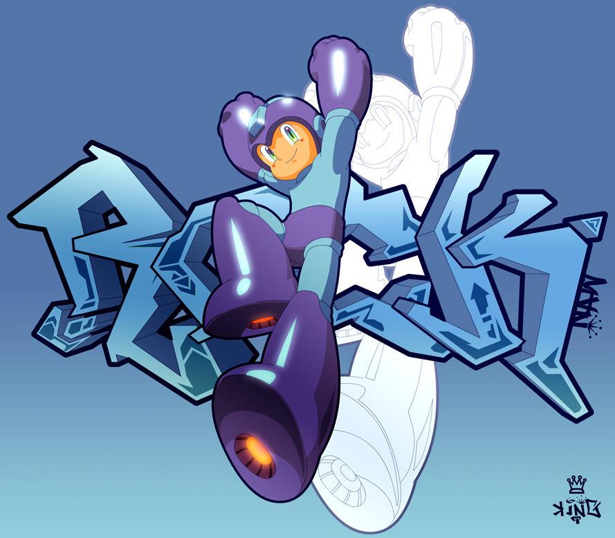 Graffiti Robots: Rock by kngzero