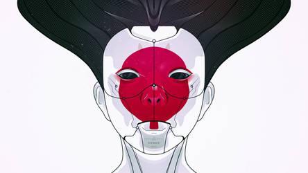 Ghost In The Sheel Geisha Wallpaper