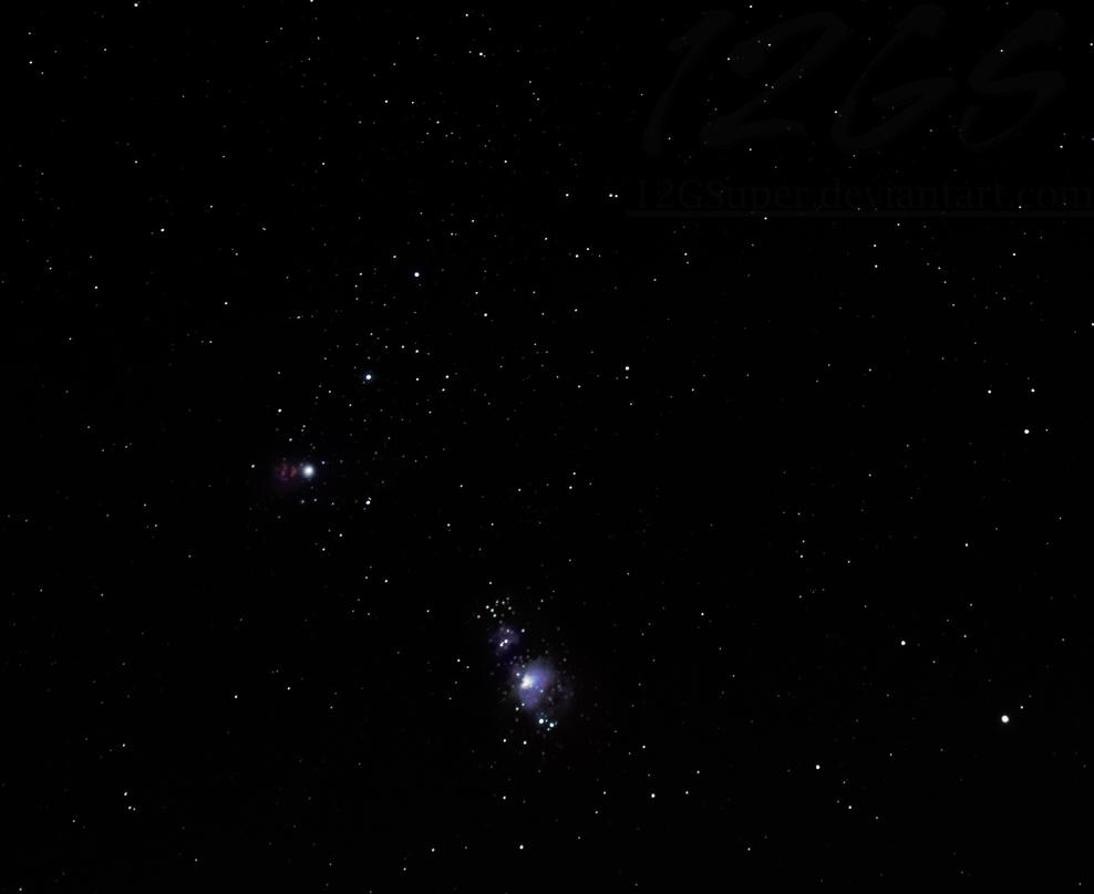 Orion and Horsehead by 12GSuper