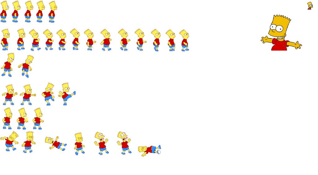 Bart Simpson Warner Styled SpriteSheet by shanethemugenfan