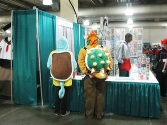 Squirtle and Bowser XD by ZombieTits