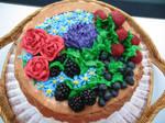 Fruit and Flower Basket Cake 2