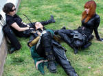 100. Relaxation - Loki, hawkeye and Black Widow