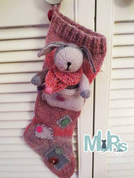 Patchwork Christmas Stocking by MurisKnits