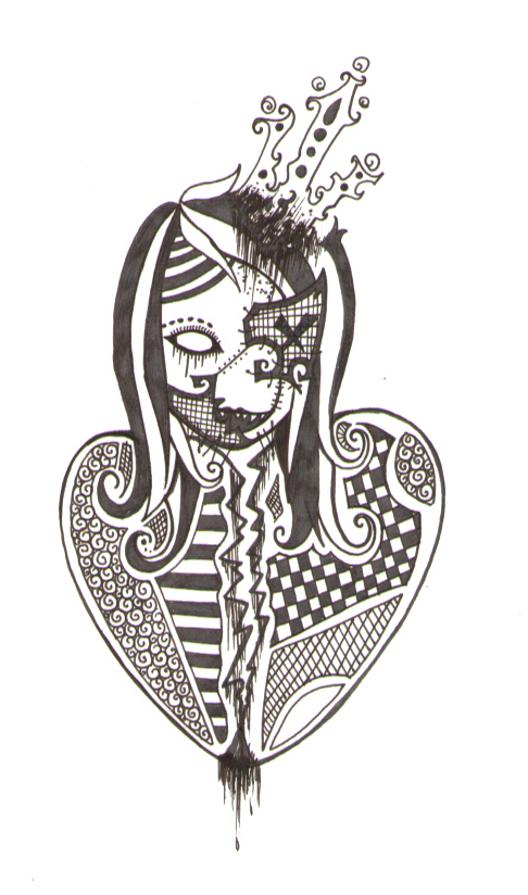 Broken Heart Zombie Queen By DeathlyDolls