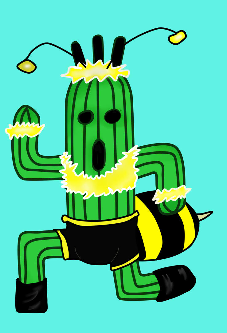 Honey Bee Cactuar by albedosreqium