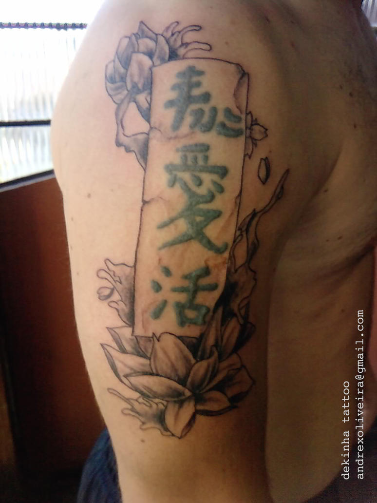 Oriental lotus flower by taberna tattoo on deviantart oriental lotus flower by taberna tattoo izmirmasajfo